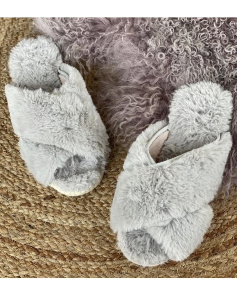 Isabel home slippers GREY (Levering 10. november)