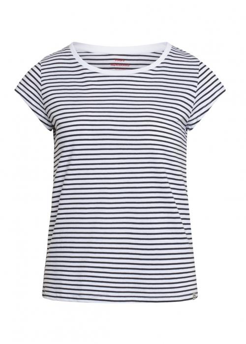 Organic favorite stripe teasy t-shirt WHITE / BLACK
