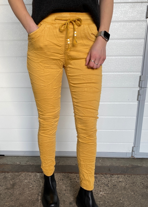 Soft jogging jeans 11 CURRY