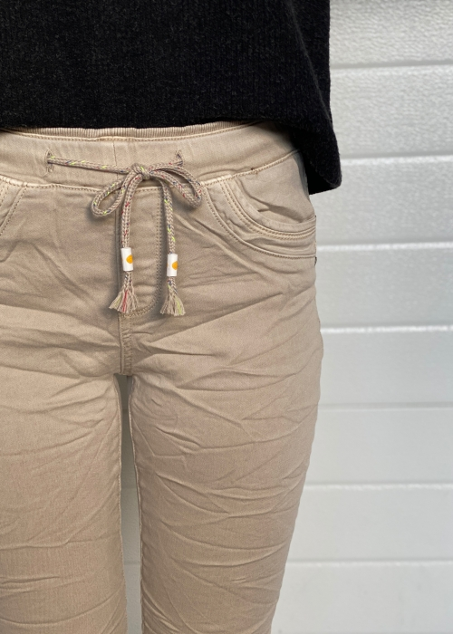 Soft jogging jeans 14 SAND