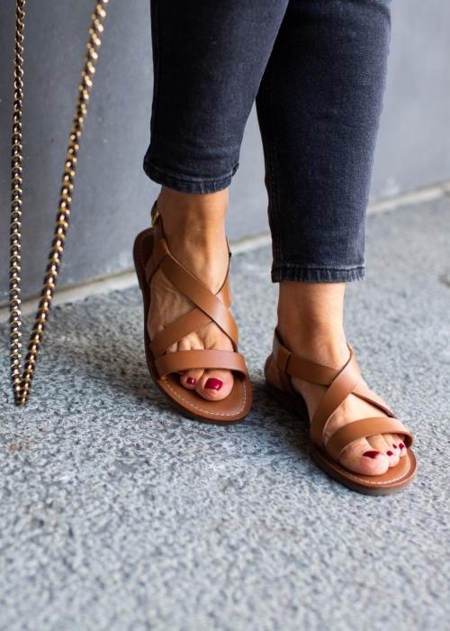 Copenhagen shoes Mari sandal COGNAC (Preorder Levering April) -