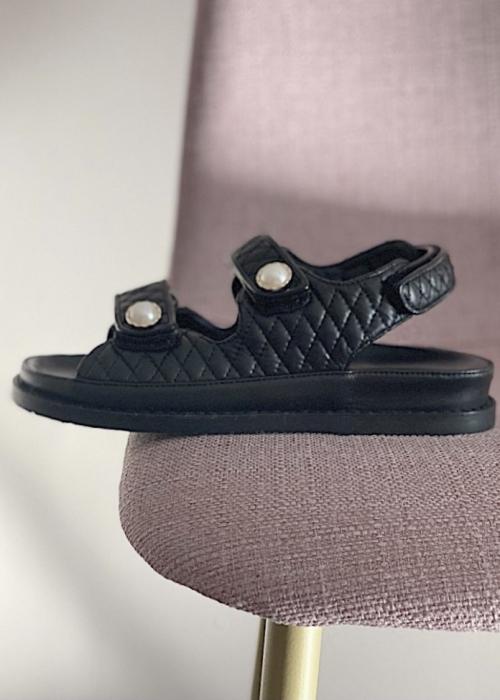 Copenhagen shoes Luxury pearl sandal BLACK (Preorder Levering